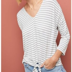 Anthropologie Tied-front Top